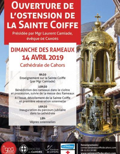 14 avril - Ouverture de l'ostension de la Sainte Coiffe