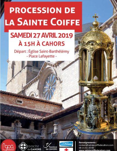 27 avril - procession dans les rues de Cahors