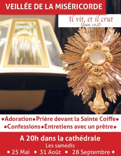 Samedi 31 août - Veillée miséricorde